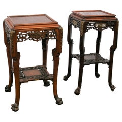 Matched Pair of French Japanese Style Table