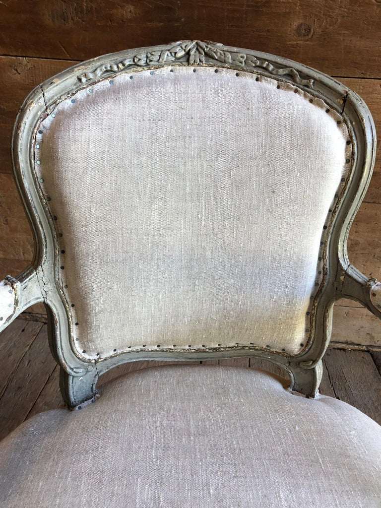 Matched Pair of Louis XVI Armchairs, 1780s For Sale 3