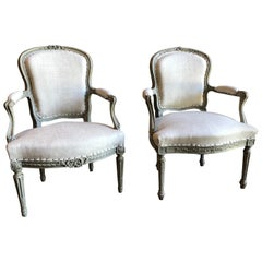 Matched Pair of Louis XVI Armchairs, 1780s