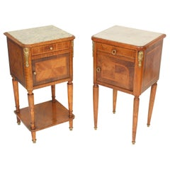 Matched Pair of Louis XVI Style Occasional Tables
