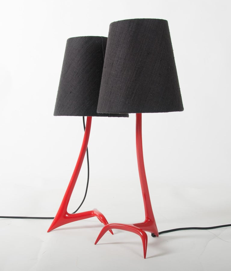 Matched Pair of Stockholm Table Lamps by Maison Charles For Sale 2