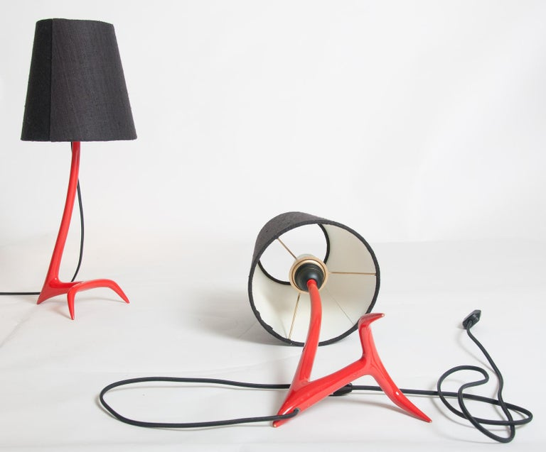 Matched Pair of Stockholm Table Lamps by Maison Charles For Sale 3