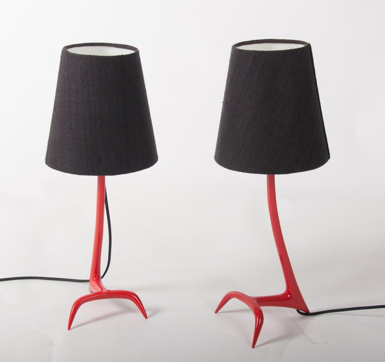 Matched Pair of Stockholm Table Lamps by Maison Charles In Good Condition For Sale In Fingest, Oxfordshire