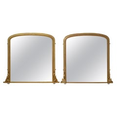 Matched Pair of Victorian Giltwood Overmantel Mirrors