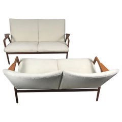 "Matched Pair of Scandinavian Modern ""Ruster"" Sofa's, Yngve Exstrom, Pastoe 1960s"