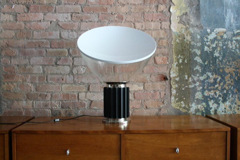 Mid-Century Modern Matched Pair Vintage Taccia Lamp by Pier Giacomo and Achille Castiglioni 1980s For Sale