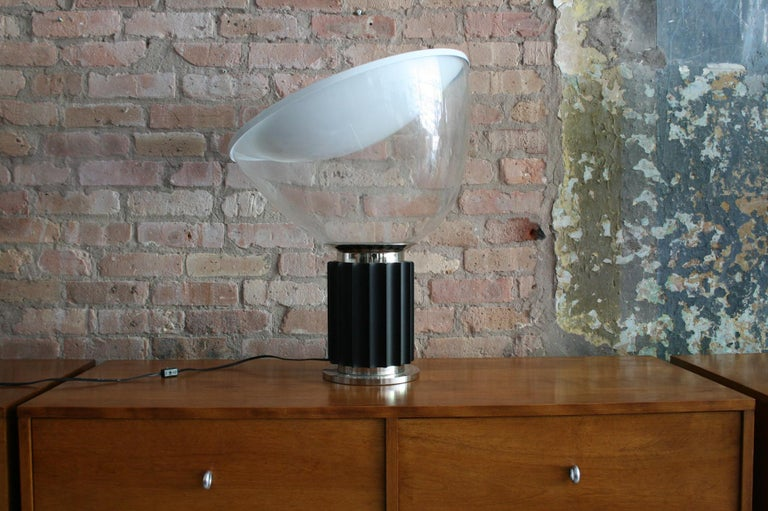 Metal Matched Pair Vintage Taccia Lamp by Pier Giacomo and Achille Castiglioni 1980s For Sale