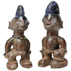 "Matched Pair of Yoruba Tribal Ibeji ""Twin"" Figures, Nigeria"