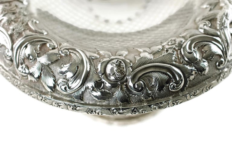 Matched Schofield Baltimore Silversmiths Sterling Silver Tazzas Castle Landscape For Sale 3