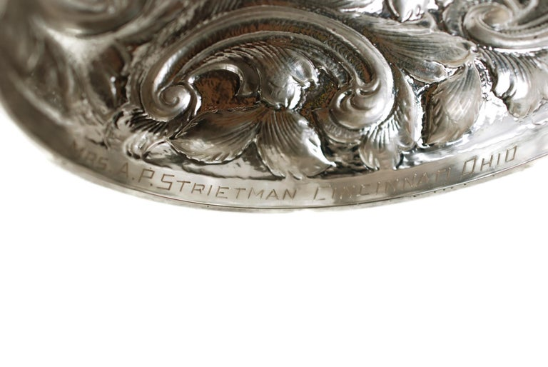 Matched Schofield Baltimore Silversmiths Sterling Silver Tazzas Castle Landscape For Sale 9