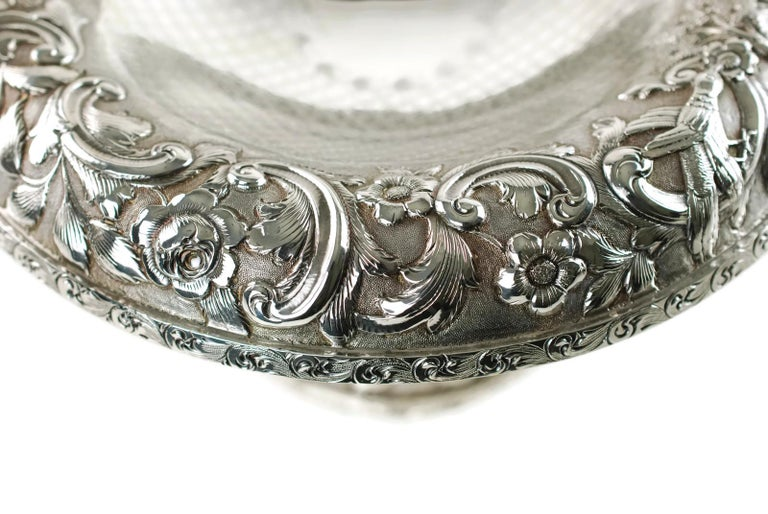 Matched Schofield Baltimore Silversmiths Sterling Silver Tazzas Castle Landscape For Sale 1