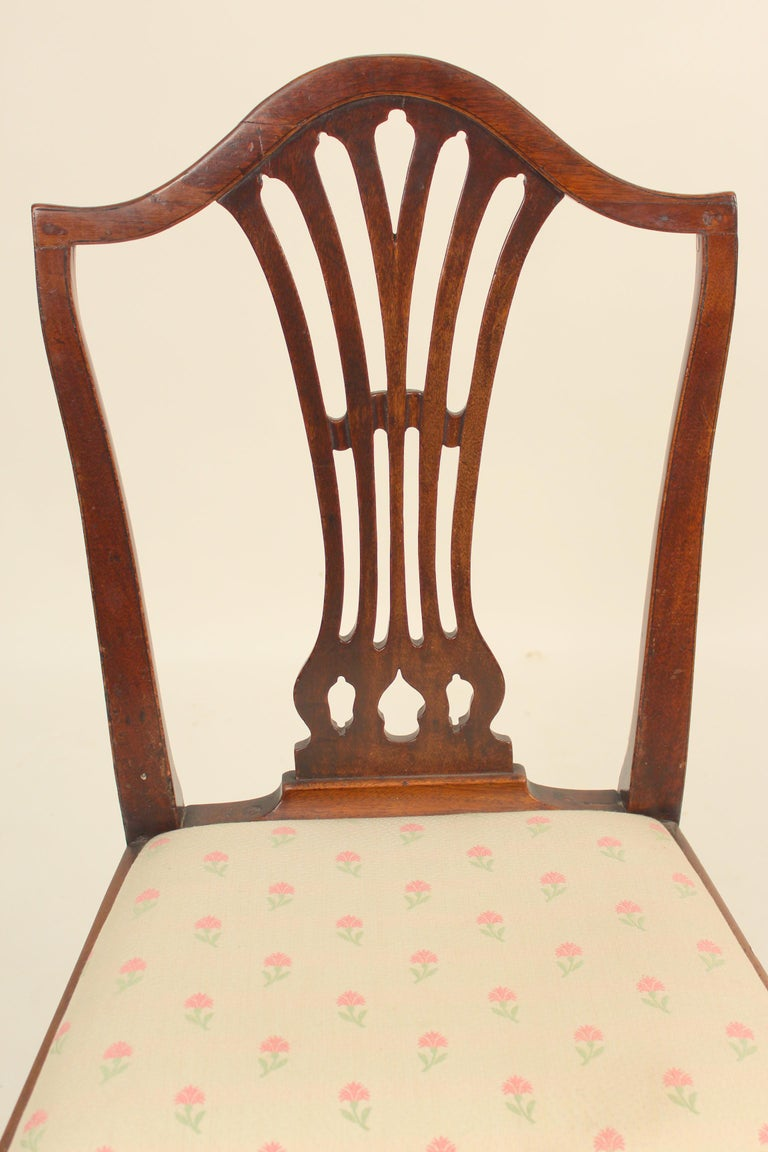 Matched Set of 6 Antique George III Style Dining Room Chairs For Sale 2