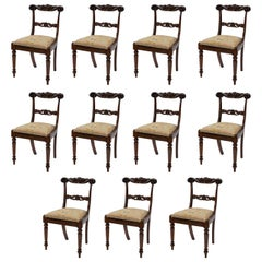 Matched Set on Eight and Three, Eleven in Total, George IV Dining Chairs