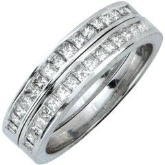Matching 1.25 Carat Diamond Wedding Band Set
