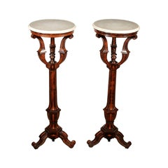 Matching Guéridon Rosewood and White Marble, Italy, 19th Century