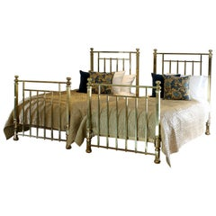 Matching of Pair of Twin Brass Antique Beds, MPS42