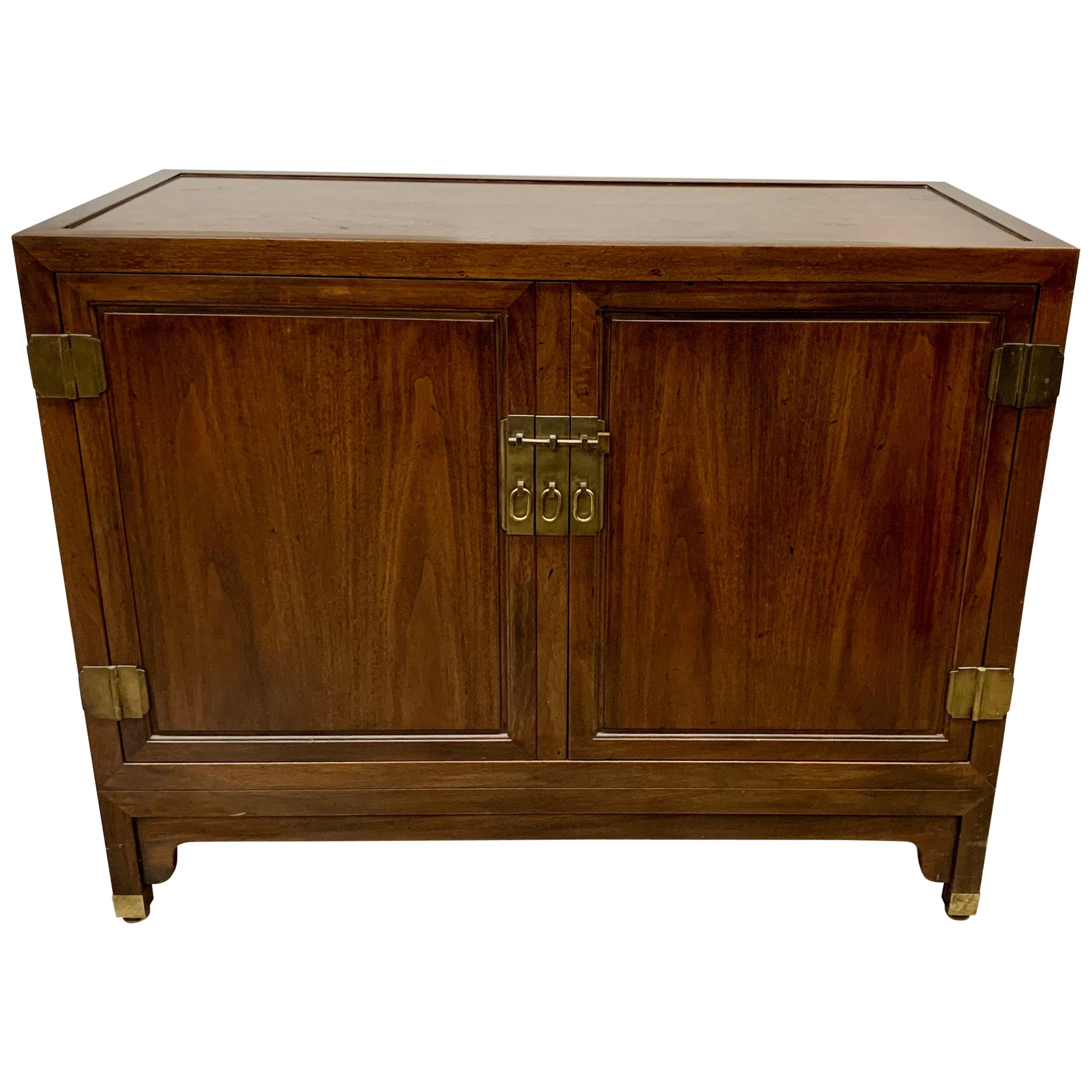 Matching Baker Furniture Walnut Sideboards Cabinets Buffets Bars Credenzas, Pair