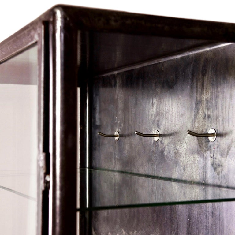 Mid-20th Century 1930s Iron and Glass Vitrine from Belgium For Sale