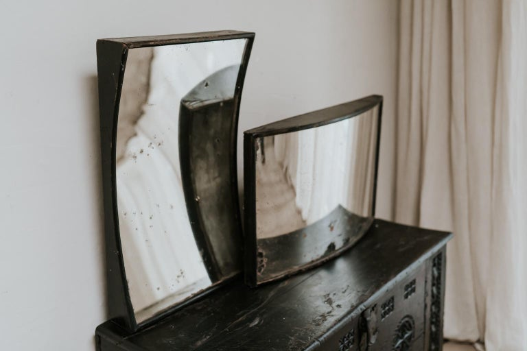Matching Pair of 19th Century Distortion Mirrors For Sale 2