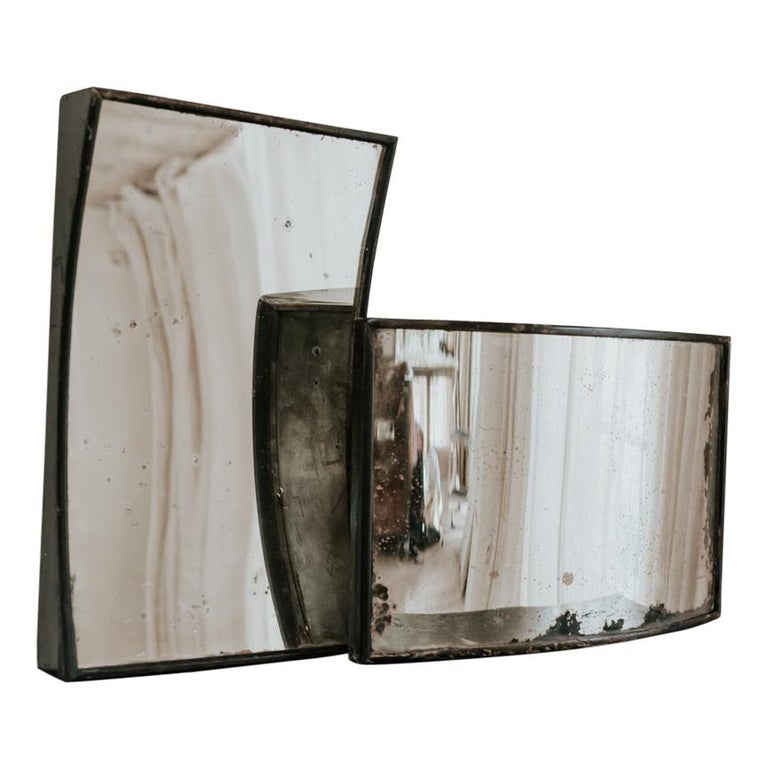Matching Pair of 19th Century Distortion Mirrors For Sale