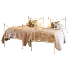Matching Pair of Cream Antique Beds MPS43