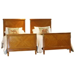 Matching Pair of French Antique Beds, WP32