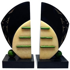 Matching Pair of Large Modernist Art Deco Bookends