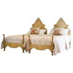 Matching Pair of Queen Anne Style Beds WP29