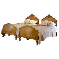 Matching Pair of Single Beds WP33