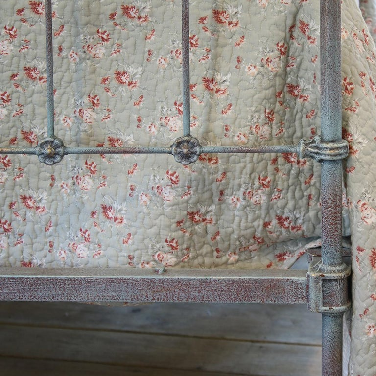 Matching Pair of Twin Blue Verdigris Antique Beds MPS41 1