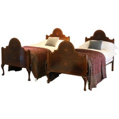 Matching Pair of Walnut Beds - WP19