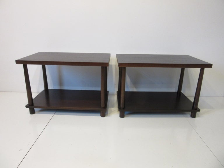 Matching Pair Side Tables / Nightstands by T.H. RobsJohn Gibbings for Widdicomb  For Sale 3