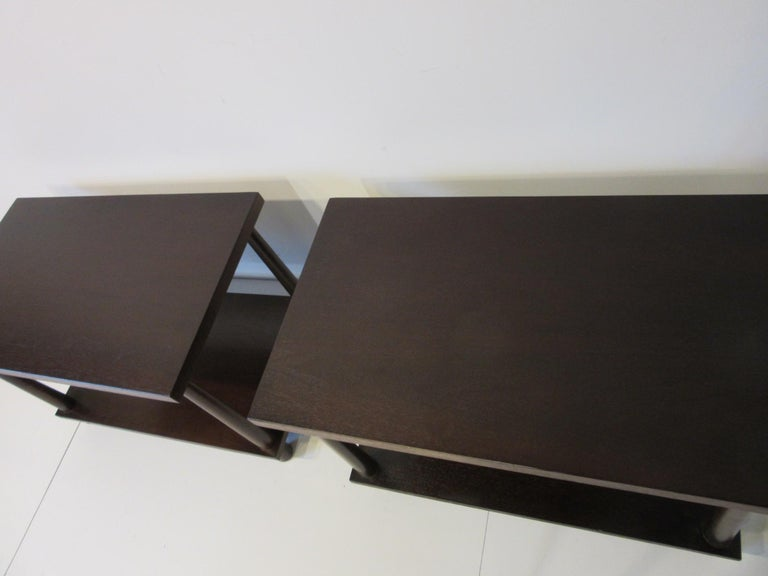 20th Century Matching Pair Side Tables / Nightstands by T.H. RobsJohn Gibbings for Widdicomb  For Sale