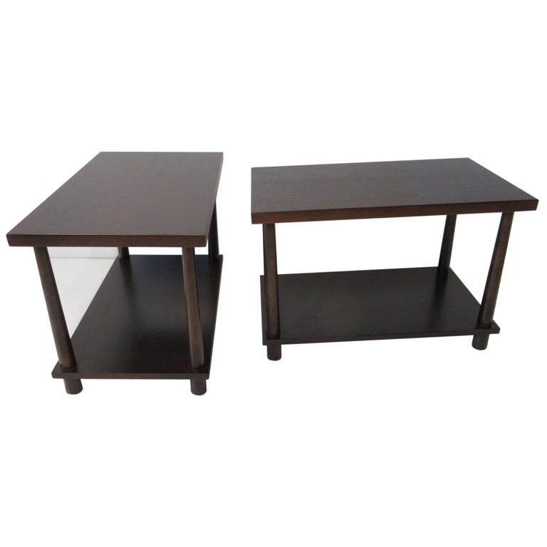 Matching Pair Side Tables / Nightstands by T.H. RobsJohn Gibbings for Widdicomb  For Sale