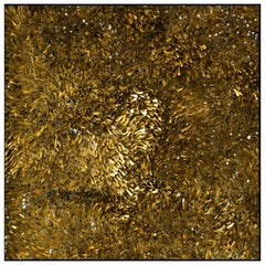 Matchstick Applied Murano Glass and Gold Leaf Mosaic by CaCO3