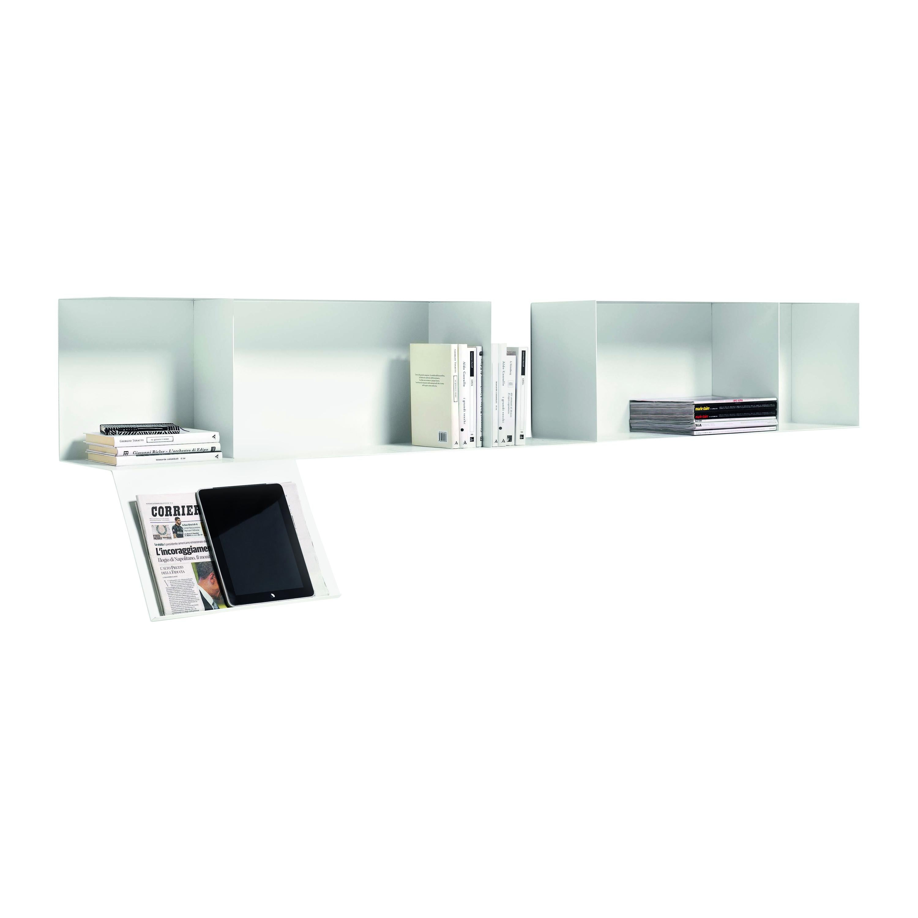 Mate Metal Shelf with Bookstand in White by Mist-O & Mogg
