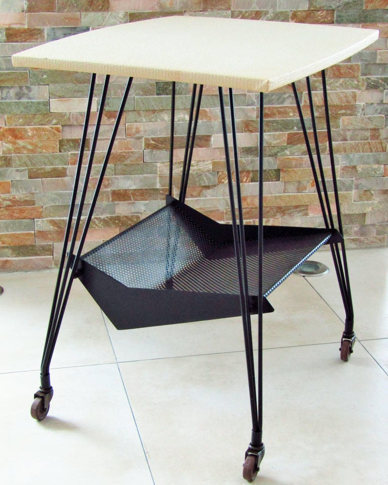 Mid-20th Century Mategot Bar Trolley, France, 1950s For Sale