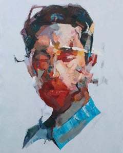 Portrait Study by Mateja Petkovic - Abstract, Contemporary Portrait painting