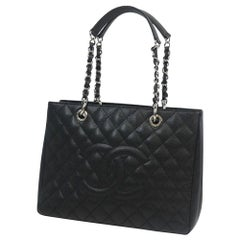 matelasse GST chain tote bag  Womens  tote bag A50995  black x silver hardware