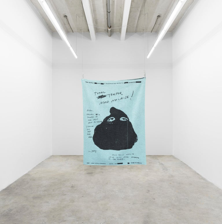 Tony Matelli's three throw blankets for the Normann x Brask Art collection express the feelings of an artist in distress. The woolen throws are woven enlargements of personal fax messages sent to some of his art dealers in 2003 and made into a