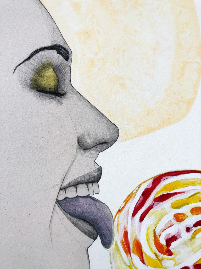 LOLLIPOP II 2020 - Painting by Mateo Andrea