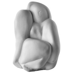 MATER, Ceramic Sculpture Handcrafted in White Matt by Gabriella B. Made in Italy