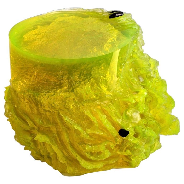 Materiality Vol.2 Side Table / Stool by Eduard Locota, Resin Acrylic Sculpture For Sale