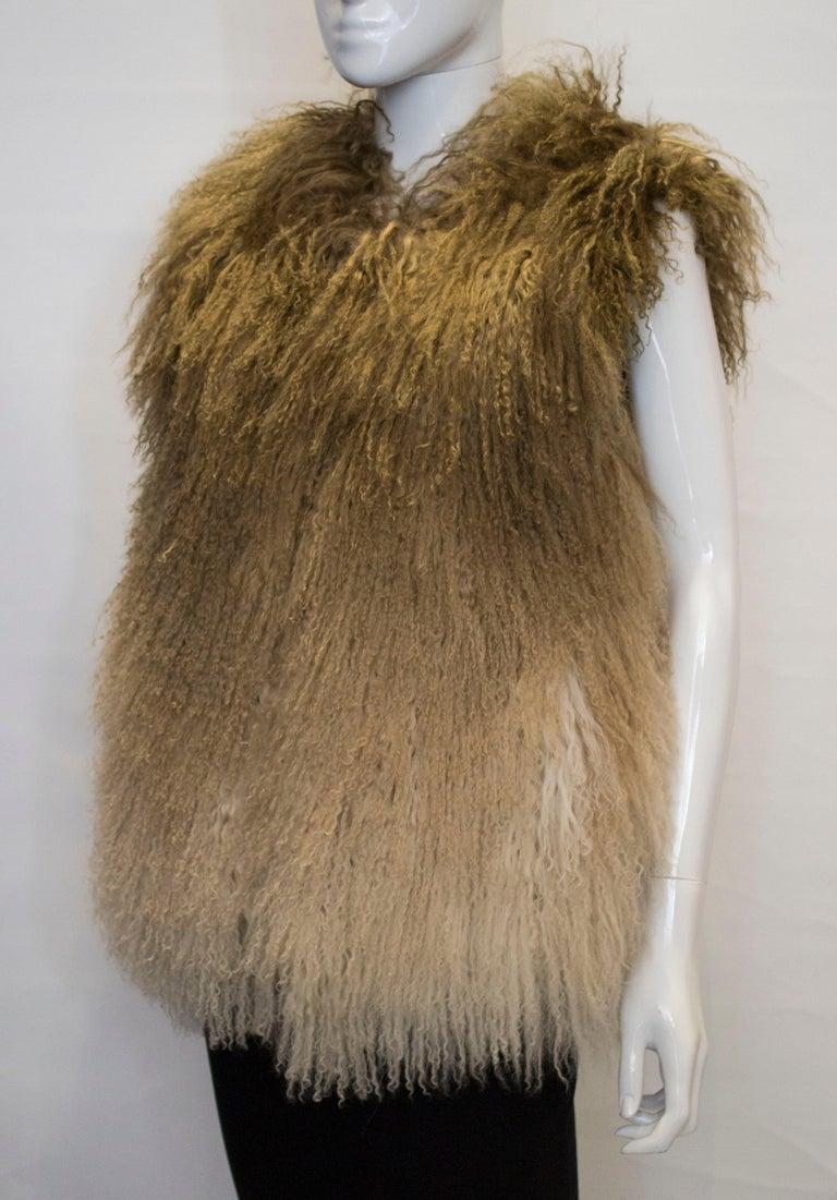 Mathew Williamson Mongolian Lamb Fur Gilet In Good Condition For Sale In London, GB
