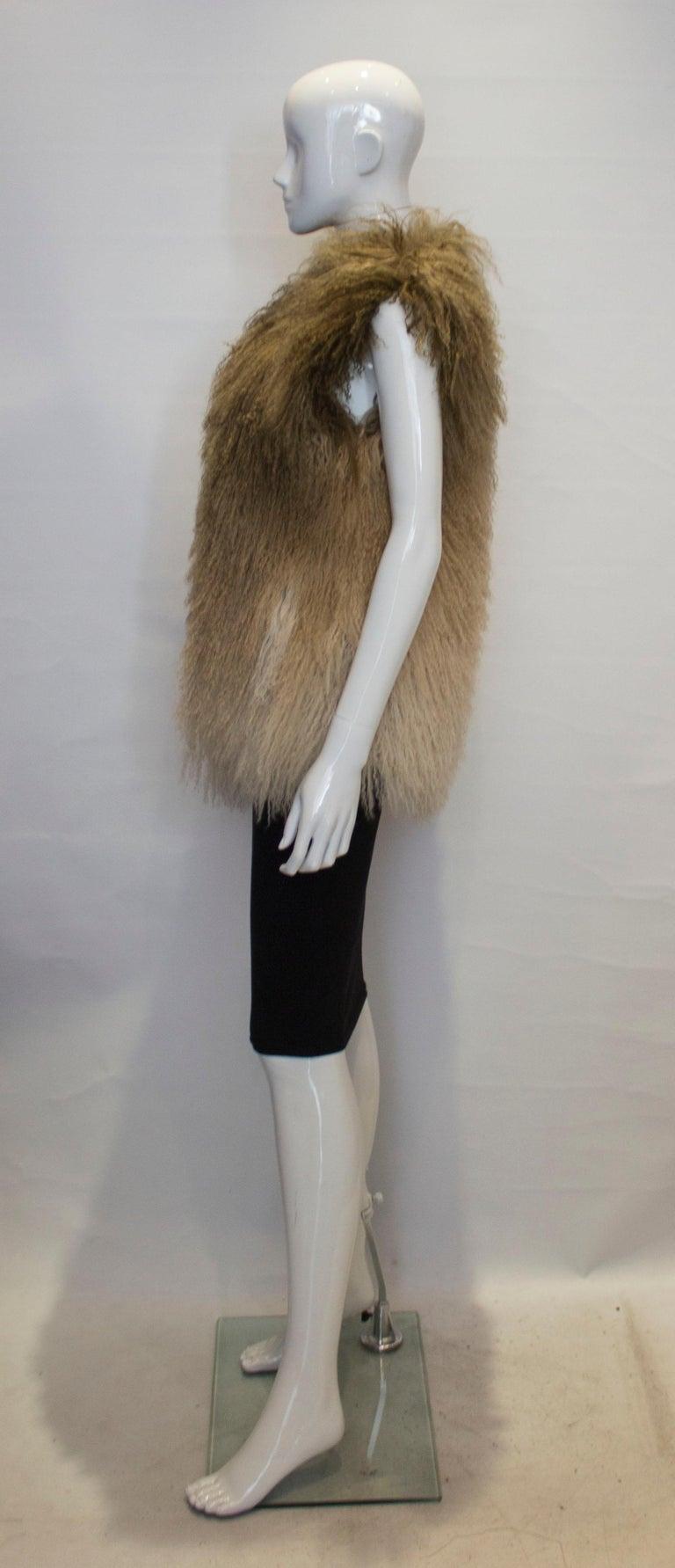 Women's Mathew Williamson Mongolian Lamb Fur Gilet For Sale