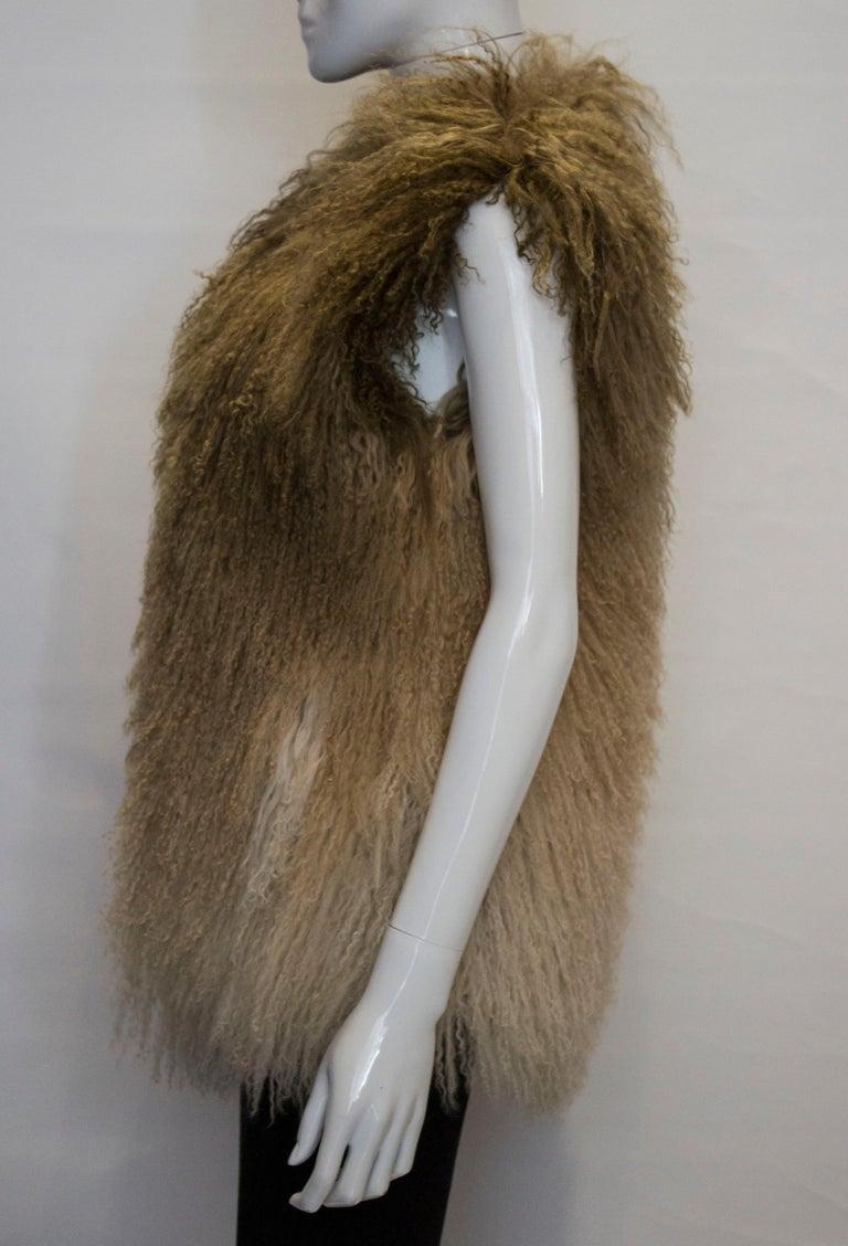 Mathew Williamson Mongolian Lamb Fur Gilet For Sale 1