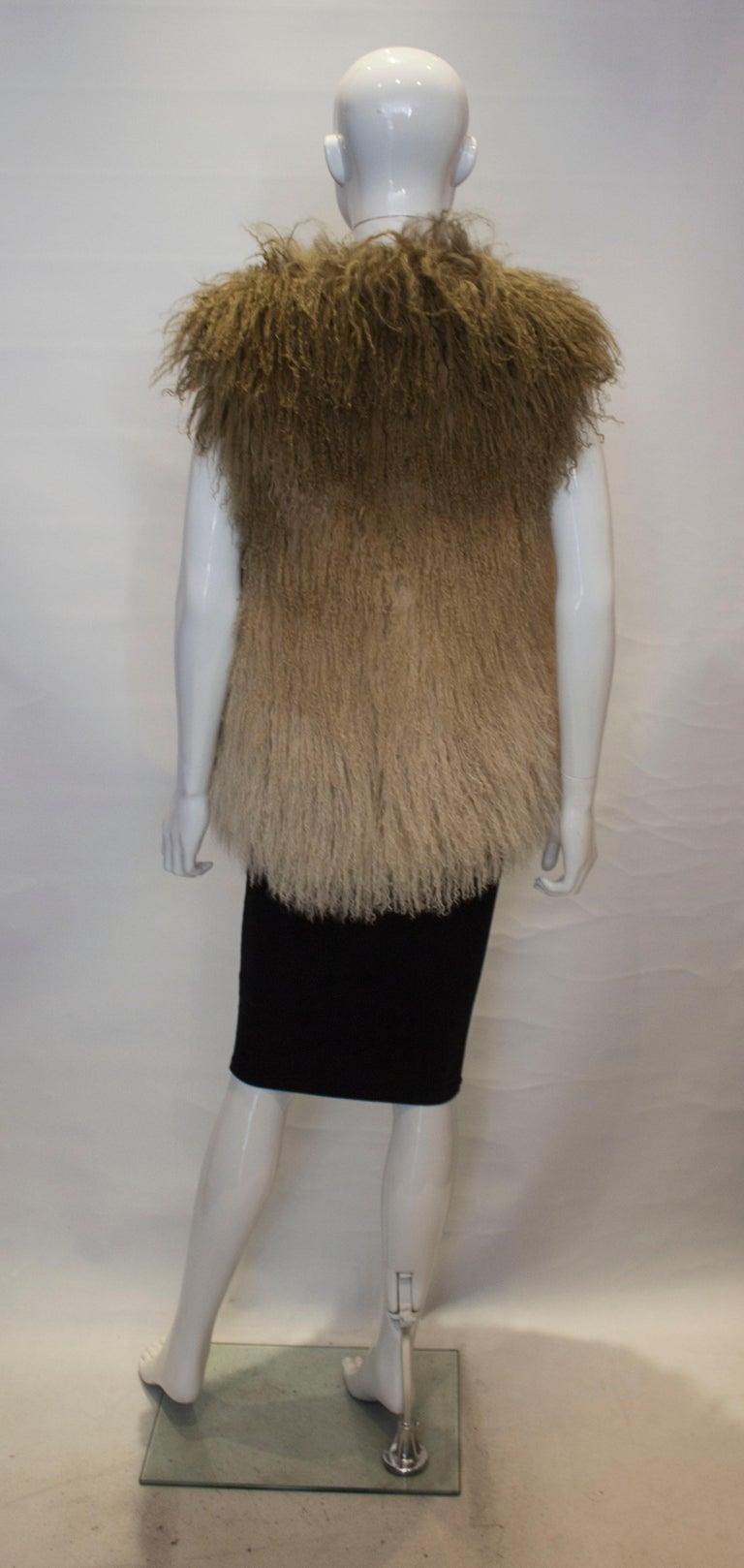 Mathew Williamson Mongolian Lamb Fur Gilet For Sale 2