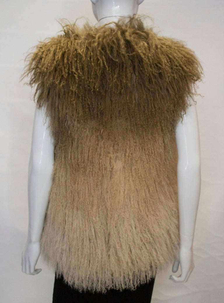 Mathew Williamson Mongolian Lamb Fur Gilet For Sale 3