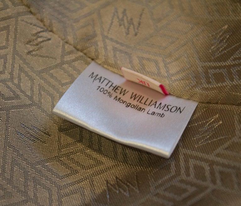 Mathew Williamson Mongolian Lamb Fur Gilet For Sale 4