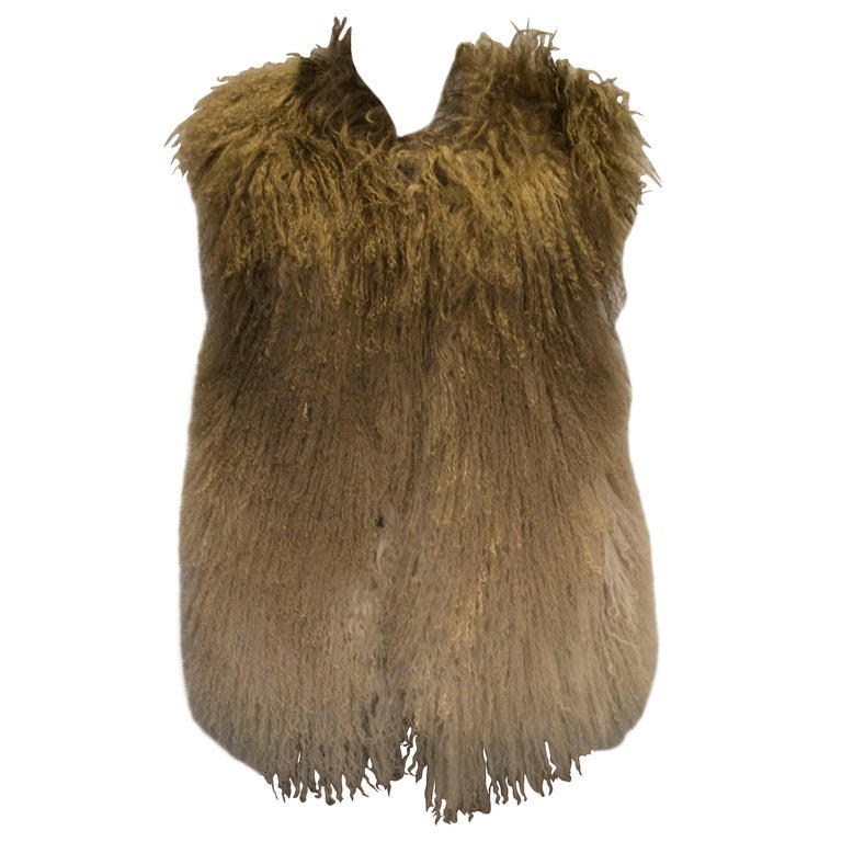 Mathew Williamson Mongolian Lamb Fur Gilet For Sale